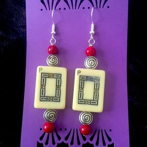 Handmade Mahjong Earrings
